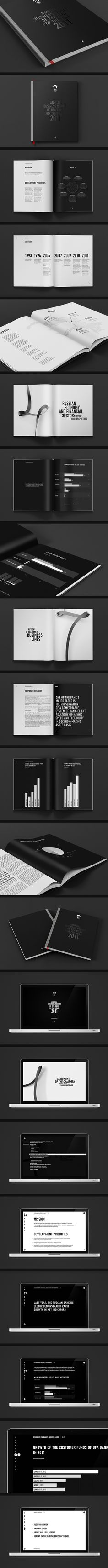 black on black :: spot varnish  2011 Annual Report for BFA Bank on Behance