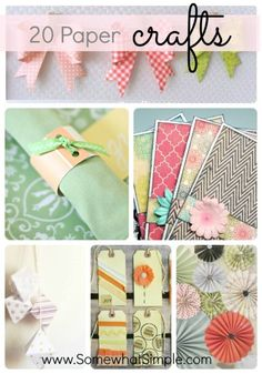 20 easy + ADORABLE paper crafts!