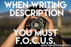 When Writing Descrip