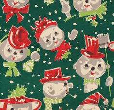 Crystal Snow People Wrapping Paper | Flickr - Photo Sharing!
