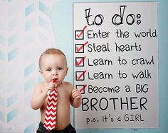 Jill Aponte Photography baby announcement ideas big brother big sister pictures photography announce siblings chevron blue list to do