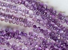Brazilian Amethyst Faceted TearDrop Beads by gemsforjewels on Etsy