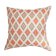 Orange and pink pillow