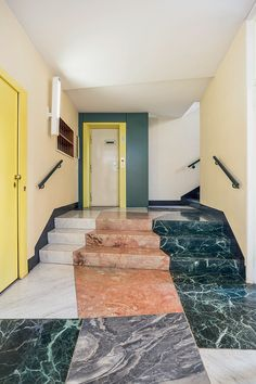 There's a new book out on a favorite subject of ours — the Entryways of Milan, including this gem by Gio Ponti, Antonio Fornaroli, and Alberto Rosselli 📷 Design Lounge, Design Loft, Floor Design, House Design, Design Design, Gio Ponti, Italian Interior Design, Interior Design Minimalist, Interior Designing