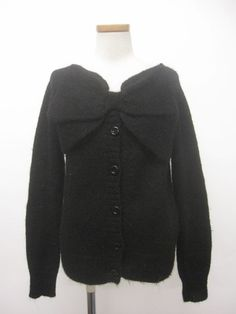 Jane Marple Ribbon Cardigan- black