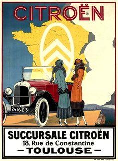 citroen poster by Pierre Louys • citroen adverts