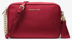 411d52be1130 Buy Black MICHAEL Michael Kors Ginny Leather Cross Body Camera Bag from our  Handbags, Bags & Purses range at John Lewis & Partners.