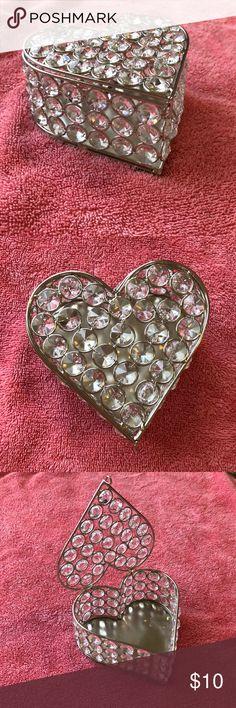 Rhinestone Jewelry Box Perfect condition. Never used . Rhinestone Heart Shaped Jewelry Box. Jewelry