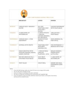 LOW CARB NIGERIAN TIMETABLE | Projects to Try | Pinterest ...