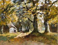 """Jan van Vuuren 1871 – 1941""""Bosgezicht met schaapskooi"""" Dutch Painters, Dutch Artists, Holland, Selection, Painting, Painting Art, The Nederlands, The Netherlands, Paintings"""