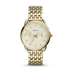 #Fossil TAILOR Multifunction Stainless Steel Watch – Gold-Tone