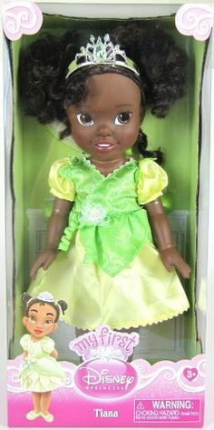 Disney Princess My First Tiana Doll by Disney. $27.26. Your favorite Disney Princesses as they were when they were toddlers! Choose from: Aurora, Cinderella, Belle, Tiana, Snow White or Ariel. Each 13 inch Princess doll is dressed in their signature costumes and feature beautiful rooted hair, a poseable body and a tiara.