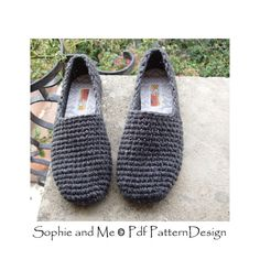 Plain Basic SC-Slippers Crochet Pattern  Instant Download