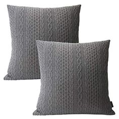Booque Valley Decorative Pillow Covers, Pack of 2 Super Soft Elegant Modern Embossed Patterned Gray Cushion Covers Throw Pillow Cases for Sofa Bed Car Chair, 20 x 20 inch(Grey) Modern Pillow Cases, Modern Pillows, Decorative Pillow Cases, Fur Throw Pillows, Throw Pillow Cases, Grey Cushion Covers, Car Chair, Grey Cushions, Best Pillow