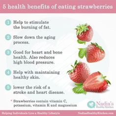 Here are five benefits of eating strawberries: