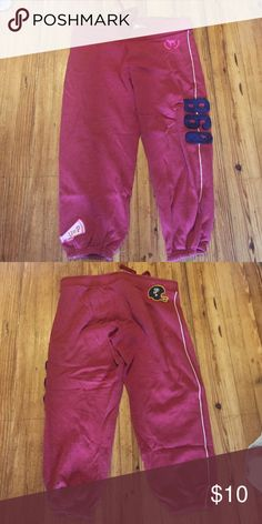 VS SWEATPANTS Red can be worn down or Capri style. Vintage looking PINK Victoria's Secret Pants