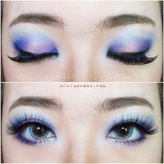 ELSA THE SNOW QUEEN INSPIRED MAKEUP, FROZEN. ❤ liked on Polyvore featuring beauty products, makeup and eyes