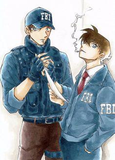 Akai-sama et Shinichiii Conan Movie, Detektif Conan, Happy Tree Friends, Anime Guys, Manga Anime, Vocaloid, Dc Police, Detective Conan Wallpapers, Gosho Aoyama