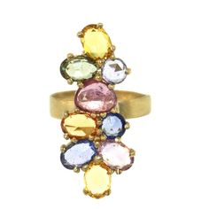 Sapphire Cluster Ring - Rings - Collections