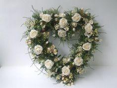 White rose heart x