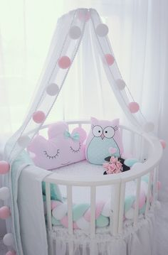 Детский текстиль. Декор детской комнаты. Бортики в кроватку.