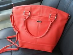 Jewell Handbags - Paris in Coral Kisses. This adds a pop of color and bit of sunshine :)