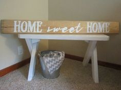 Home Sweet Home Long Wood Pallet Sign Re by KelseyNicoleDesignCo