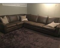 Used Italian Leather Custom Sectional Couch For Sale In Vaughan