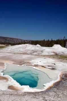 Old Faithful Area - Heart Spring, Yellowstone National park - Wyoming, USA