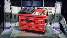 Something we liked from Instagram! #noparkingzone in my #xyzdavincipro #xyzprinting #3dprinter This 1/10 scale dumpster is #divealicious. #3dprinted the main bin in#pla and the lids in #abs. #handpainted with #enamels oh and of coarse trash hehe by dc3drc check us out: http://bit.ly/1KyLetq