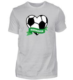 Fussball Herz Hannover T-Shirt Basic Shirts, Mens Tops, Fashion, Hannover, Dortmund, Football Soccer, Heart, Moda, Fashion Styles