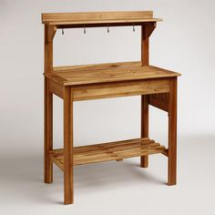 One of my favorite discoveries at WorldMarket.com: Natural Wood Potting Bench - could actually be used as a storage/serving area on the patio...