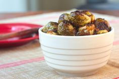 roasted Brussels sprouts with sherry-mustard vinaigrette #vegan