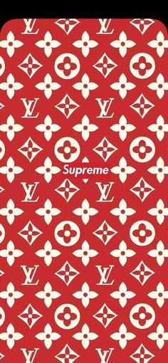 Louis Vuitton × Supreme 壁紙 #louisvuitton #supreme #louisvuittonxsupreme #collaboration #monogram #red #iphonex #ルイヴィトン #シュプリーム #ノッチ #カベコレ #ダウンロード