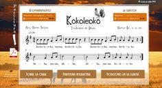 """Kokoleoko"", tradicional africana. Canto, flauta, acompañamiento, partitura..."
