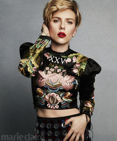 Opening up: ScarlettJohansson stars on Marie Claire's March cover; the actress talks about being a working mother - and having to take her breast pump to the Oscars