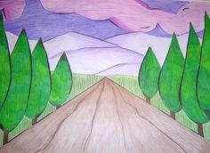 Arianna B.      Nella prospettiva centrale con un solo punto di fuga, le linee parallele tra loro convergono idealmente in un unico punto...