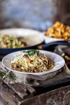 Chanterelle tagliatelle Lifestyle Photography, Food Photography, Pasta Recipes, Vegan Recipes, Beverages, Drinks, Foods With Gluten, Vegetarian Food, No Cook Meals