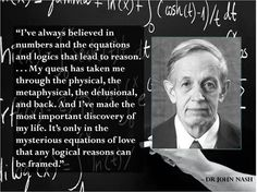 """After watching the movie, """"A Beautiful Mind"""", Dr. John Forbes Nash Jr. seems to have alot in common with Alice from Alice in Wonderland, Wendy from Peter Pan, and Dorothy from The Wizard of Oz in that he had an out of body experience with imaginary friends."""