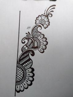 Henna Tattoo Designs Simple, Basic Mehndi Designs, Beginner Henna Designs, Mehndi Designs For Fingers, Dulhan Mehndi Designs, Latest Mehndi Designs, Mehandi Henna, Henna Art, Henna Drawings