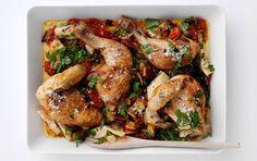 Bagt kylling med cherrytomat, artiskok & citron