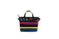 Azzurra Grochi spring/summer bags collection, multicolor handbag