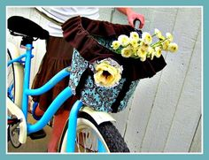 Ruffled Bicycle Basket – Free Sewing Tutorial + How to Sew an Overlock Stitch