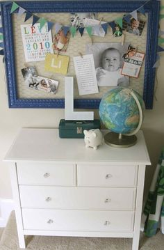 Chicken wire + frame above the desk as an inspiration board