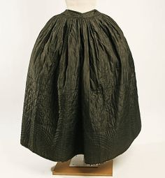 Petticoat  Date: 18th century Culture: American Medium: silk Dimensions: [no dimensions available] Credit Line: Gift of Aline Bernstein, 1937 Accession Number: C.I.37.25.2