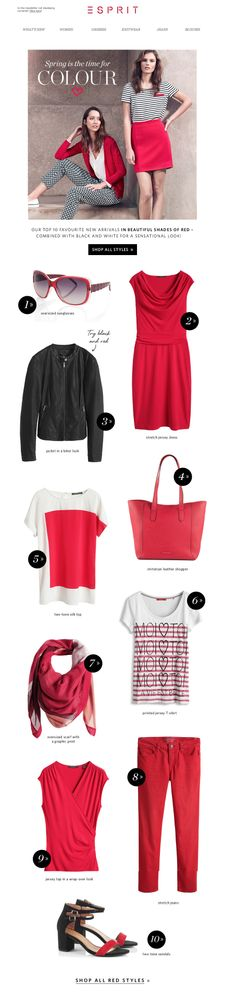 #newsletter Esprit 03.2014 It's time for colour ...take a look at our top 10 feel-good styles