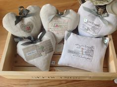 Lavender bags and hearts