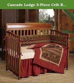 Cascade Lodge 3-Piece Crib Bedding Set. Turn your little one's room into a cozy cabin with HiEnd Accent's Cascade Lodge Crib Bedding Collection, with its mix of bears, plaid, and woodland themes. This homey 3-Piece Cascade Lodge Crib Bedding Set includes a comforter, crib sheet, and crib skirt. Features: ☆ HiEnd Accent's Cascade Lodge 3-Piece Crib Bedding Set combines woodsy colors, a bear motif, and red plaid to create a cozy cabin feel ☆ Includes: Plaid-trimmed comforter with a bear...
