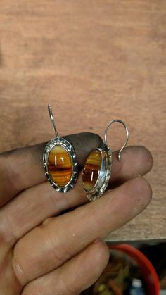 Texas agate set in silver