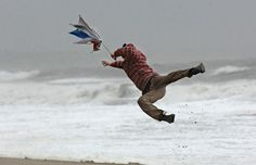 . Severe Weather, Extreme Weather, Bournemouth Beach, Blowin' In The Wind, Wild Weather, Blown Away, Windy Day, Tsunami, Humor